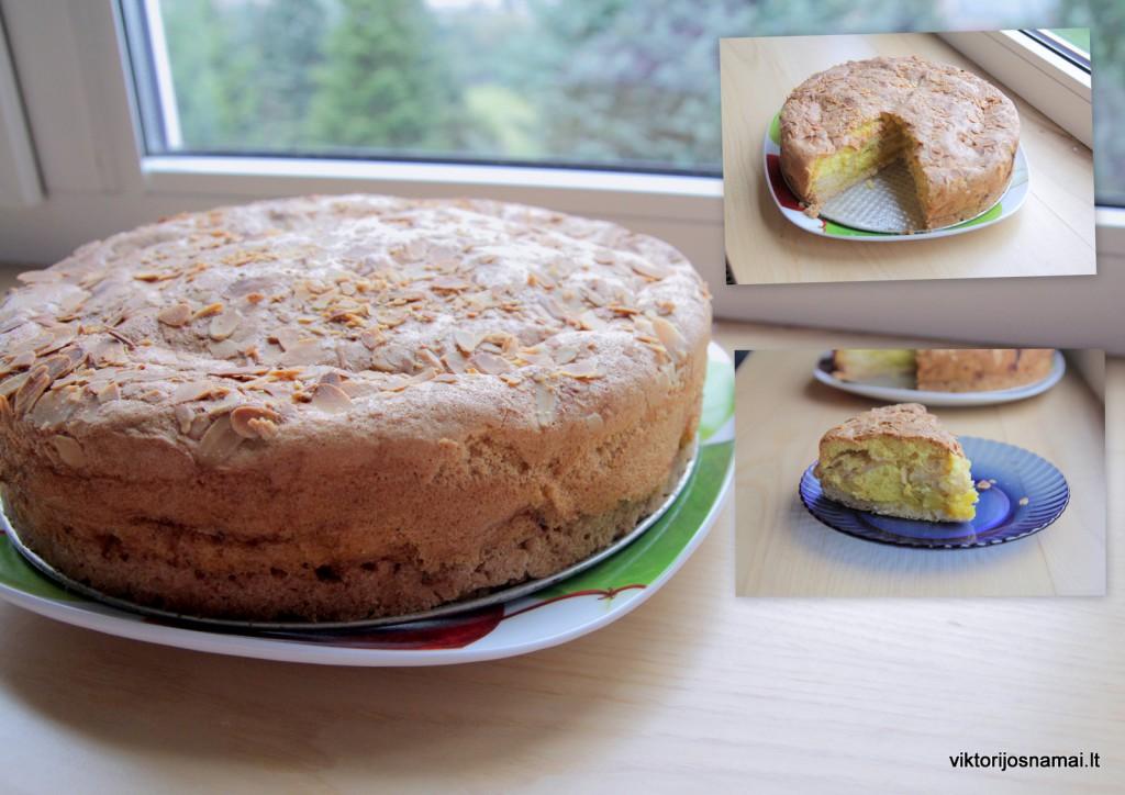 Obuolių pyragas - suflė