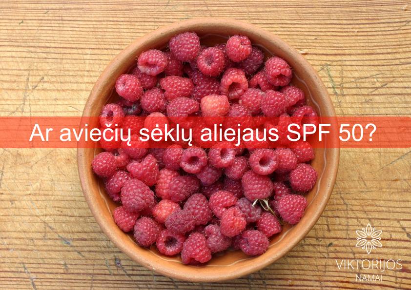 Manoma, kad iš raudonųjų aviečių sėklų išspaustas aliejus gali apsaugoti odą nuo UV spindulių.
